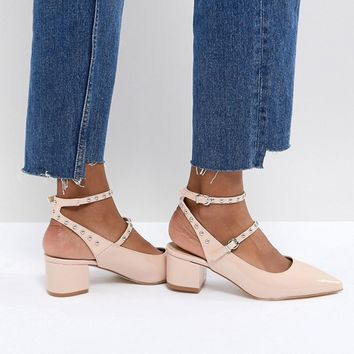 RAID Kenna Block Heel Studded Shoes at asos.com
