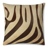 Printed Zebra Hide Pillow Cover