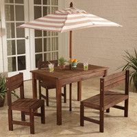 KidKraft Outdoor Patio Set - Oatmeal & White - 00501