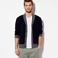 AEO Men's Shawl Collar Cardigan