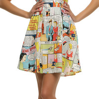 Folter Sewing Made Easy Comic Book Dress - Unique Vintage - Cocktail, Pinup, Holiday & Prom Dresses.