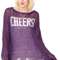 Wildfox Couture Cheers Lenon Sweater Raven