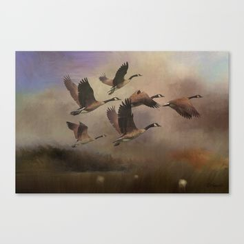 Wild Geese at Dawn Canvas Print by Theresa Campbell D'August Art