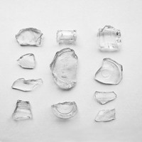 Black And White Photography Broken Vintage Glass Minimalist Home Decor 10x8 Print Fragments...