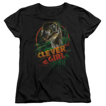 Jurassic Park  Clever Girl Girls Jr Black Rockabilia