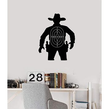Vinyl Wall Decal Silhouette Cowboy Target Kids Room Decoration Stickers Mural (ig5462)