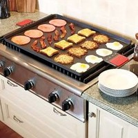 Jumbo Griddle Breakfast Stove Top Cooker Over 3 Feet Wide Large Kitchen Meals