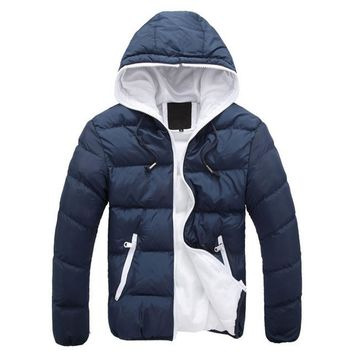 new Brand winter Jacket for men hooded coats casual mens thick coat male slim casual cotton padded down outerwear