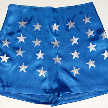 Wonder Woman Shorts... Quality Woven Stretch Satin...