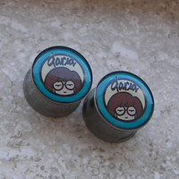 "Daria Plugs - One PAIR - Sizes 2g, 0g, 00g, 7/16"", 1/2"", 9/16"", 5/8"", 3/4"", 7/8"", 1""- Made To Order"