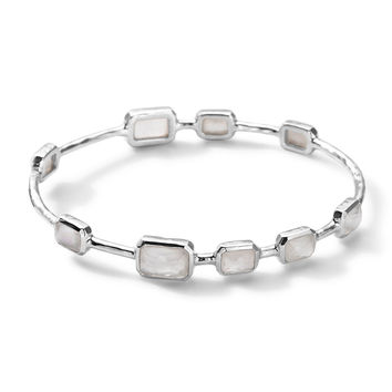 9-Stone Bangle in Mother-of-Pearl Doublet, Size 2 - Ippolita