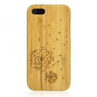 Hand Carved Bamboo IPhone 5 Case -D.. on Luulla