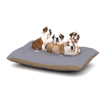 "KESS Original ""Gray Arrow Monogram"" Dog Bed"