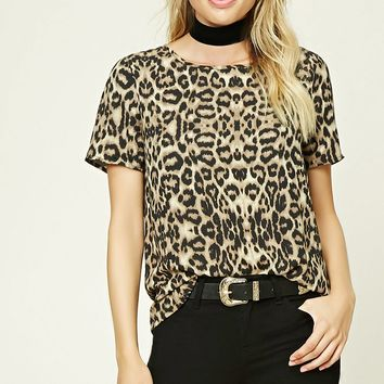 Contemporary Leopard Print Top