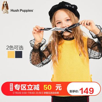 Hush Puppies Put on Girls'Trousers and Girls' New Autumn Clothes of 2019: A Simple Fashion Horse Clip for Children and Girls'Dresses