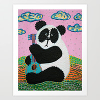 Panda Song Art Print by Laura Barbosa Art