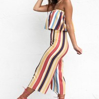 Hanging Out Tube Top Striped Set
