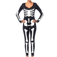 Glow-In-The-Dark Skeleton Catsuit Costume