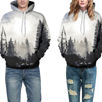 Casual Loose   Printing Couple Sweater