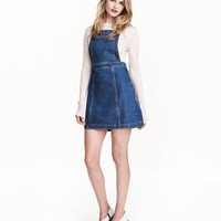H&M Denim Bib Overall Dress $34.99