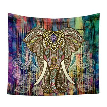CAMMITEVER 59''x83'' 52x59 inch 2 Sizes Mandala Elephant Tapestry Tree of Life Psychedelic Wall Hanging Multi Blanket Cover Up