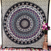 Elephant Wall Fabric Wall Hanging Dorm Decor Beach throw Table cloth Tapestry Tapestries