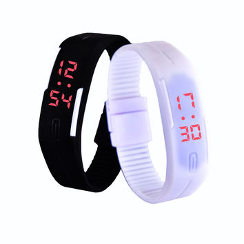 New LED watch Men Women Watches Colorful Rubber Creative Digital Watch Calendar Smart LED Electronic Wristwatches montre femme
