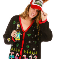 Candy Cane Crimes Ugly Christmas Sweater