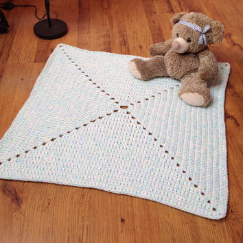 Baby Room Decor/Crochet Rug/Rugs/Rug/Area Rugs/Floor Rugs/Large Rugs/Handmade Rug/Wool rug/Kids Decor/Nursery Rug/white green blue pink mint