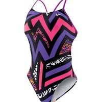 Nike Swim POW! Cut Out Tank at SwimOutlet.com - Free Shipping
