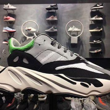 PEAPUIB Yeezy Wave Runner 700 Boost Calabasas Color White Green