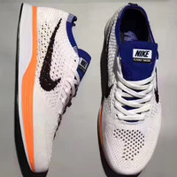 """NIKE""Flyknit Racer Fly line fashion casual running shoes"