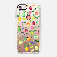 Scattered Fruit Pattern on Transparent iPhone 7 Case by Micklyn Le Feuvre | Casetify