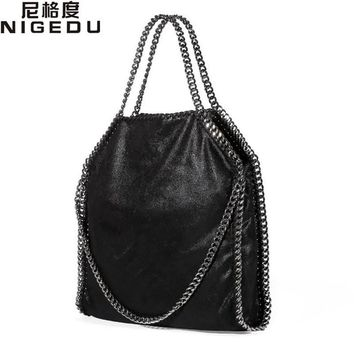 Women Bag PU Leather Fashion Chain Woven Messenger Shoulder Bags Bolsa Feminina Carteras Mujer handbags Women's Totes