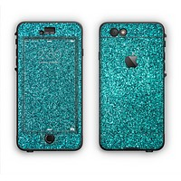 The Teal Glitter Ultra Metallic Apple iPhone 6 LifeProof Nuud Case Skin Set