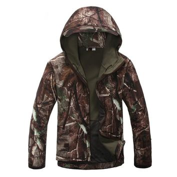 Lurker Shark Skin Softshell  Military Tactical Jacket Men Waterproof Windproof Warm Coat Camouflage Hooded Camo Army Clothing