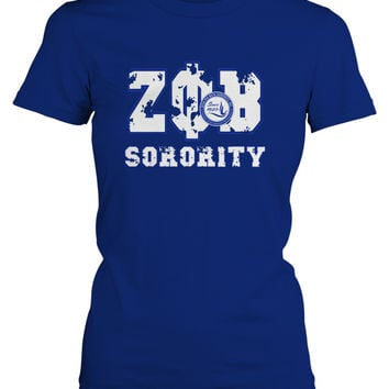 ΖΦΒ - Bedrock Sorority Pearl Broach Ladies Tee