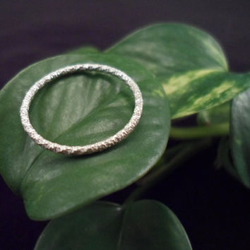 Sterling Silver 925 Knuckle - Stacking Ring, Regular Ring OR toe ring. Faceted, Hammered, Textured. Childrens, Womens, Mens Pick Your Size!