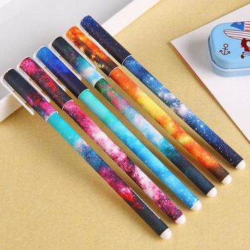 DCCKL72 (1Pcs/Sell) 0.5mm Cute Candy Color starry sky Gel Ink Pen Maker Pen School Office Supply Escolar Papelaria kawaii