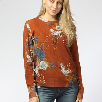 Japanese Floral Comfy Crew