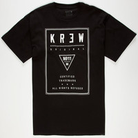 Kr3w Label Mens T-Shirt Black  In Sizes