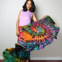 Maxi Skirt / Hippie Tie Dye Skirt : Funky Collection