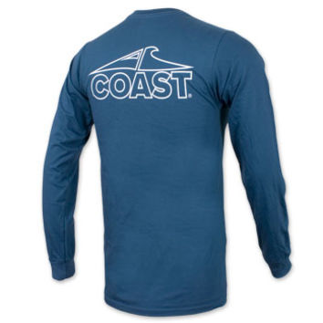 Coast Pawleys Island Logo Long Sleeve Pocket T-Shirt - Navy