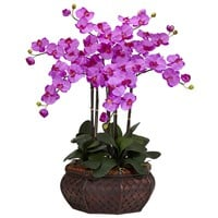 Large Phalaenopsis Silk Flower Arrangement