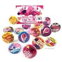 *NEW* Vadge of Honor Button Collection - 16 Buttons