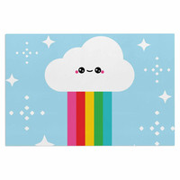 "KESS Original ""Mr. Rainbow"" Multicolor Kids Decorative Door Mat"
