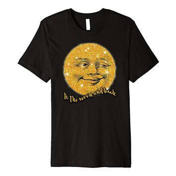 To the Moon and Back T-shirt Vintage Man in the Moon
