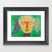 Patchwork Girl Framed Art Print by Express Yourself Studios, LLC