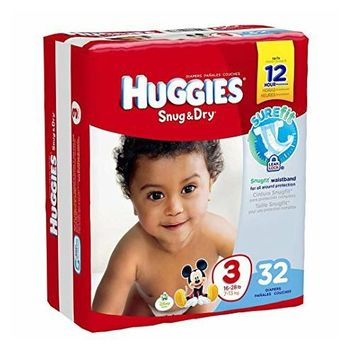 Size 3 Heavy Absorbency Snug & Dry Tab Closure Baby Diaper (16-28 lbs) | Huggies #40668