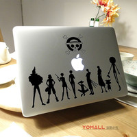"One Piece Anime Vinyl Laptop Sticker for Apple Macbook Air Pro Retina 11"" 13"" 15"" 12"" Luffy Notebook Decal Mac Case Cover Skin"